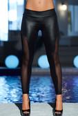 AM PM Super Flirty Wetlook Leggings - Black