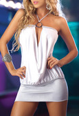 AM PM Drape Dress - White/Silver