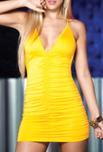 AM PM Detail Back Dress - Yellow