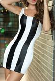 AM PM Striped Sleeveless Mini Dress