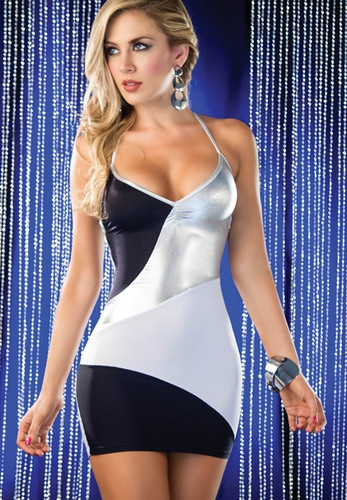 AM PM Irresistible Contrast and Straps Mini Dress
