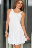 AM PM Tank Style Neckline with Shimmering Accent Mini Dress - White