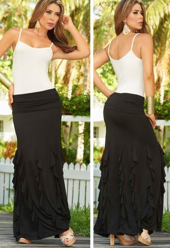 AM PM Convertible Skirt - Black