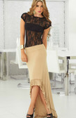 AM PM Flowing Skirt with Ruffle - Mocha