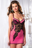 Be Wicked One Piece Chemise with Black Lace