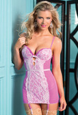 Be Wicked One-Piece Lace Garter Slip with Underwire Cups