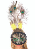 Be Wicked Feather Peacock Mask