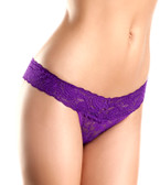 Be Wicked Lace Panties - Purple