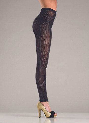 Be Wicked Footless Knitted Pantyhose