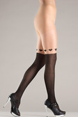 Be Wicked Black and Nude Pantyhose