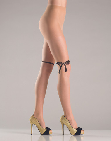 Be Wicked Nude Bow Deisgn Pantyhose
