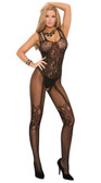 Elegant Moments Fishnet and Lace Bodystocking