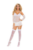 Elegant Moments Polka Dot Delight Mesh Babydoll