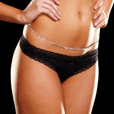 "Ann Devine Rhinestone Belly Chain (39"")"