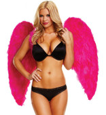 Feather Fantasy Pink Feather Wings - Wingspan 34""