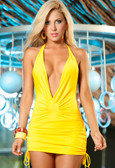 AM PM Espiral Halter Dress - Yellow