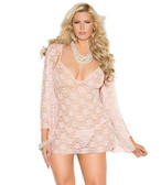 Elegant Moments Queen Size Three Piece Set Lace Babydoll