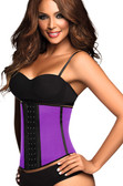 Ann Chery  Latex Sport Workout Waist Cincher Corset - Purple