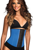 Ann Chery Latex Sport Workout Waist Cincher Corset Plus Size - Blue