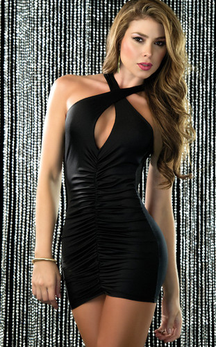 AM PM Espiral Mini Dress - Black