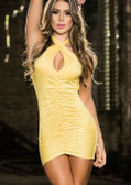 AM PM Espiral Mini Dress - Yellow