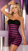 AM PM Espiral Neon Mini Dress - Hot Pink