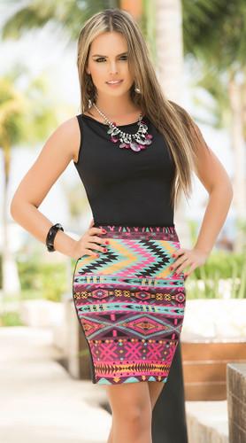 AM PM Tribal Print Dress