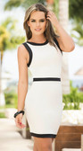 AM PM White and Black Trim Dress