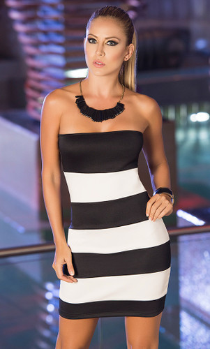 AM PM Striped Tube Dress