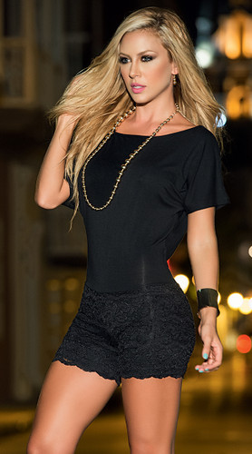 AM PM Romper Short - Black