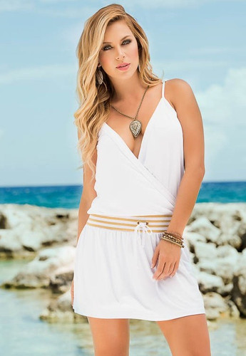 AM PM Sun Dress - White