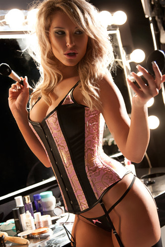 Allure Lingerie Leather and Brocade 'Marilyn' Corset