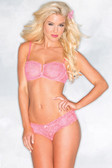 Be Wicked Hot Pink Lace Bra Set