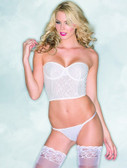 Be Wicked 1-Piece Lace Cropped Bustier - White