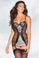 Be Wicked Black and Cream Cami Suspender