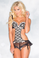 Be Wicked 2 Piece Apron-style Chemise Set