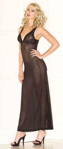 Be Wicked 1 Piece Sheer Black Dress