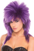 Be Wicked Spike Wig - Purple