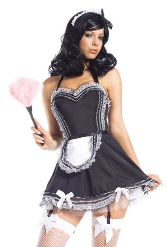 "Be Wicked French Maids- ""4 Piece ""Hands On Maid"" Costume"