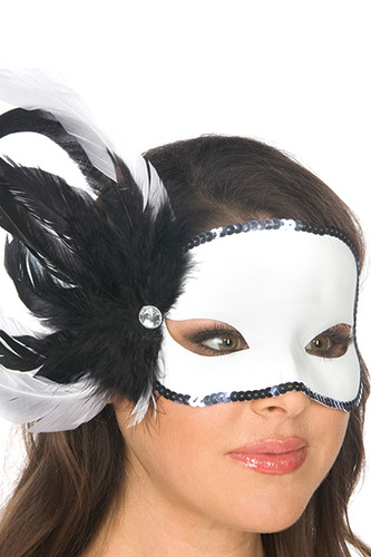 Be Wicked Feather Mask (BW05M12A)