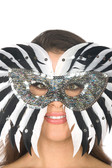 Be Wicked Feather Mask BWSM001A