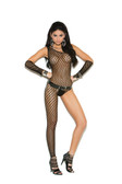 Elegant Moments Crochet One Shoulder and Leg Bodystocking