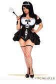 Daisy Corset Top Drawer 4 PC French Maid Costume