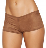 Roam Costume Suede Boy Shorts - Brown