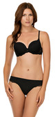 Black Affinitas Nicole Push-Up Bra shown with Affinitas Nicole Brazilian Thong 1341(sold separately).