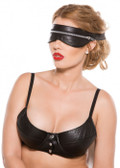 Allure Lingerie Faux Leather Zip Mask
