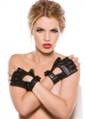 Allure Lingerie Faux Leather Fingerless Short Gloves