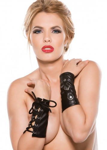 Allure Lingerie Faux Leather Ring Arm Guards