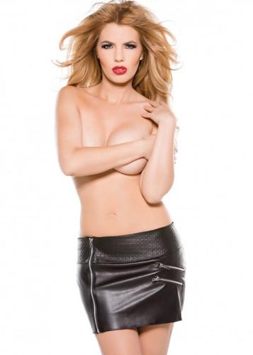 Allure Lingerie Faux Leather Zipper Skirt