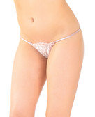 Coquette Eyelash Lace & Satn Adjustable G-String